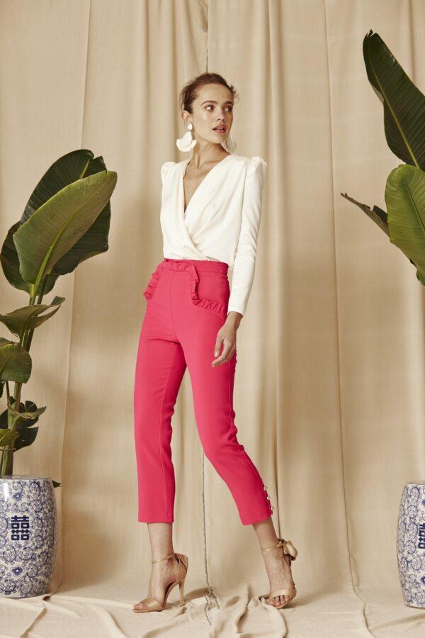 la-coqueta-lola-vestido-invitada-coosy-modelo-pantalon-kairi-fucsia-tienda-guadalajara