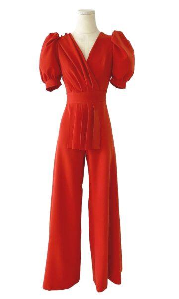 la-coqueta-lola-vestido-invitada-coosy-modelo-mono-rojo-aurorero-tienda-guadalajara